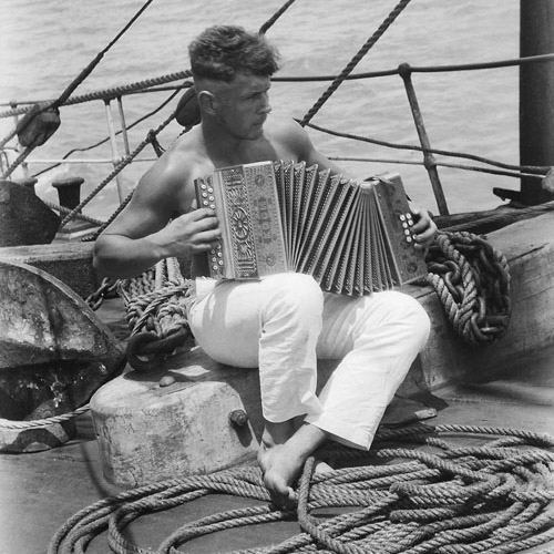 Sea Shanties Sailor with Accordion