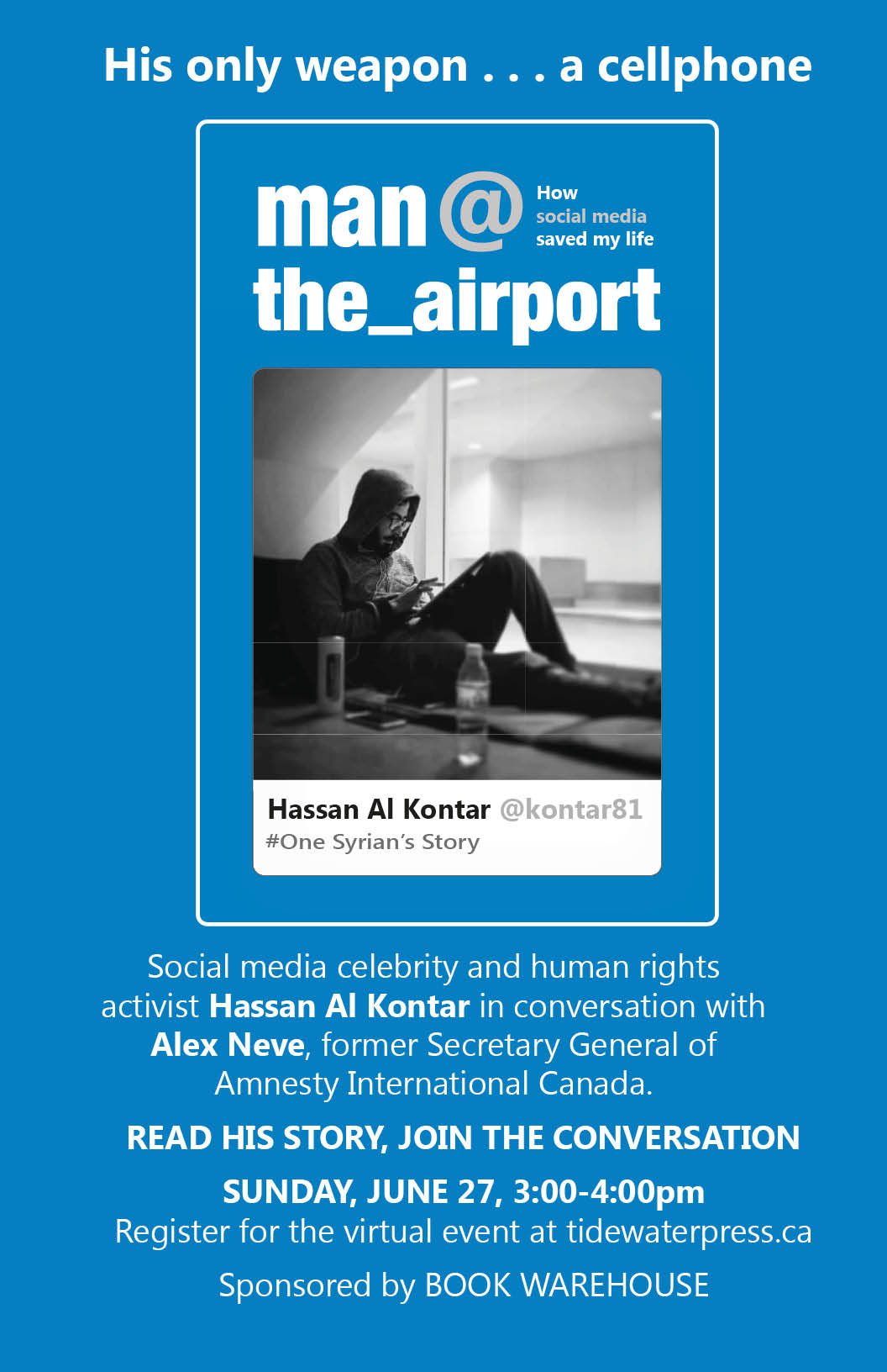 Book Warehouse event with Hassan Al Kontar and Alex Neve