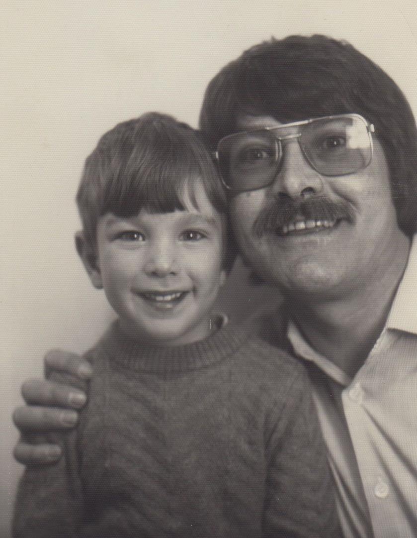 Robert O'Brien and his father, 1984