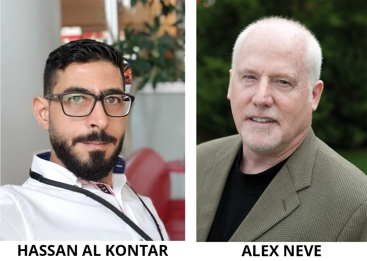 Hassan Al Kontar and Alex Neve