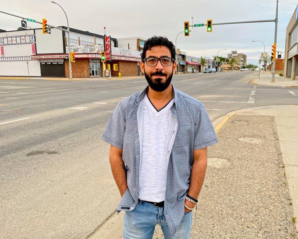 Hassan Al Kontar in Fort St John. Photo Alaska Highway News
